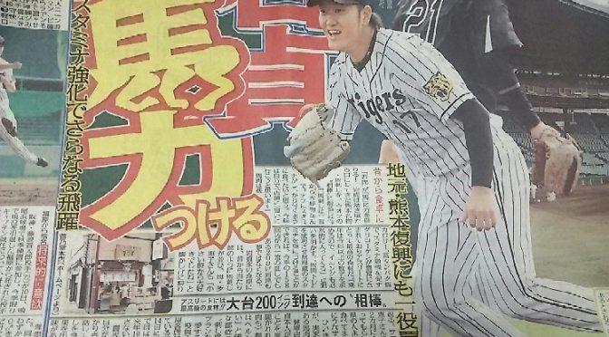 タイガース岩貞選手もご用達の鮮馬刺し!:馬刺しの本場熊本よりお取り寄せ